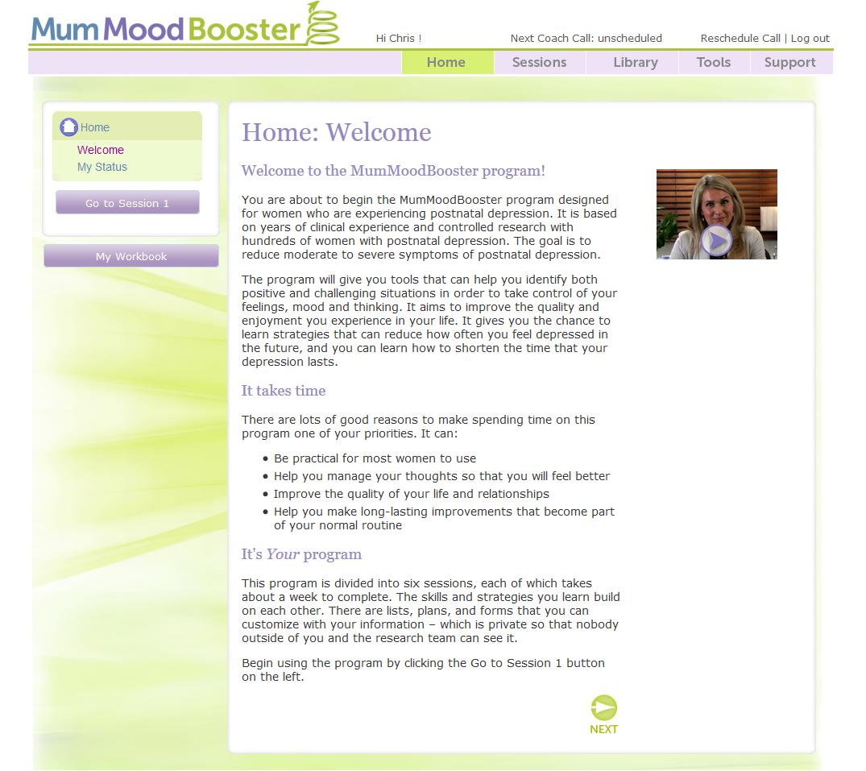 MumMoodBooster screenshot